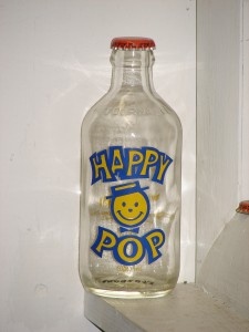 Happy Pop soda bottle Edmonton, Alberta, 1983