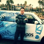 Getting dropped off by Zappos shuttle