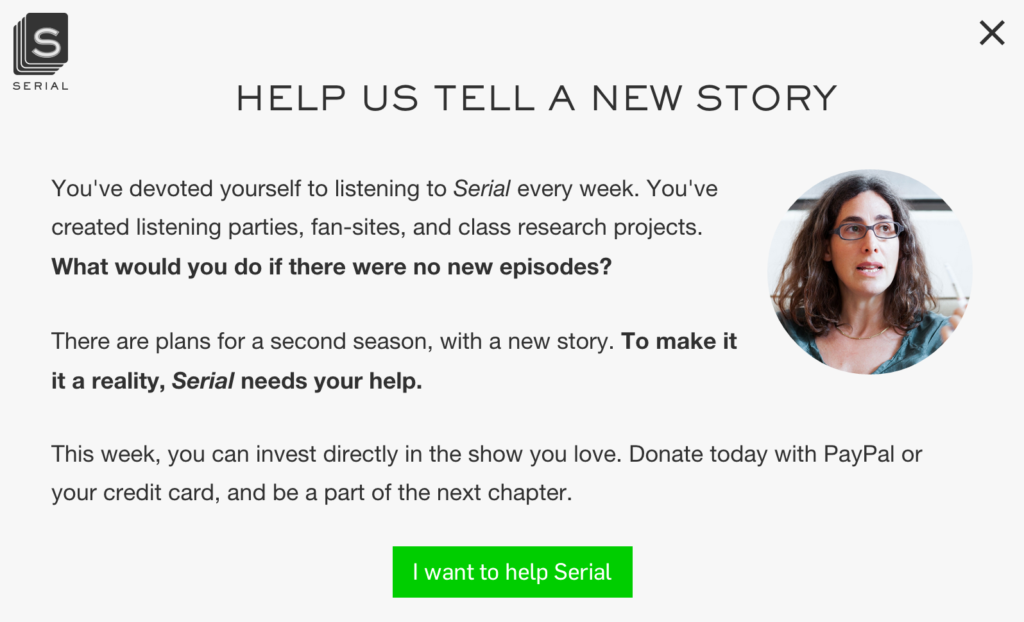 Updated: Serial podcast landing page teardown